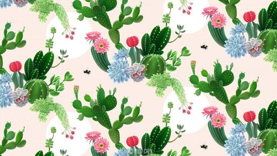 Cactus Delight - horizontal view