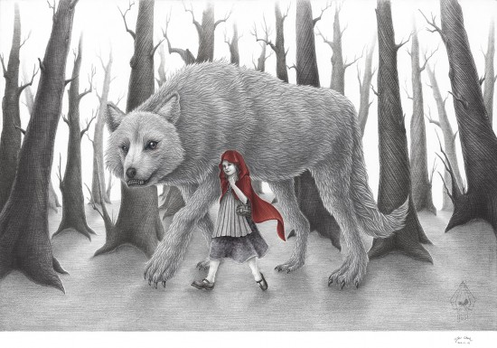 Red Ridding Hood 59.4 x 42cm Pencil, Ink on paper