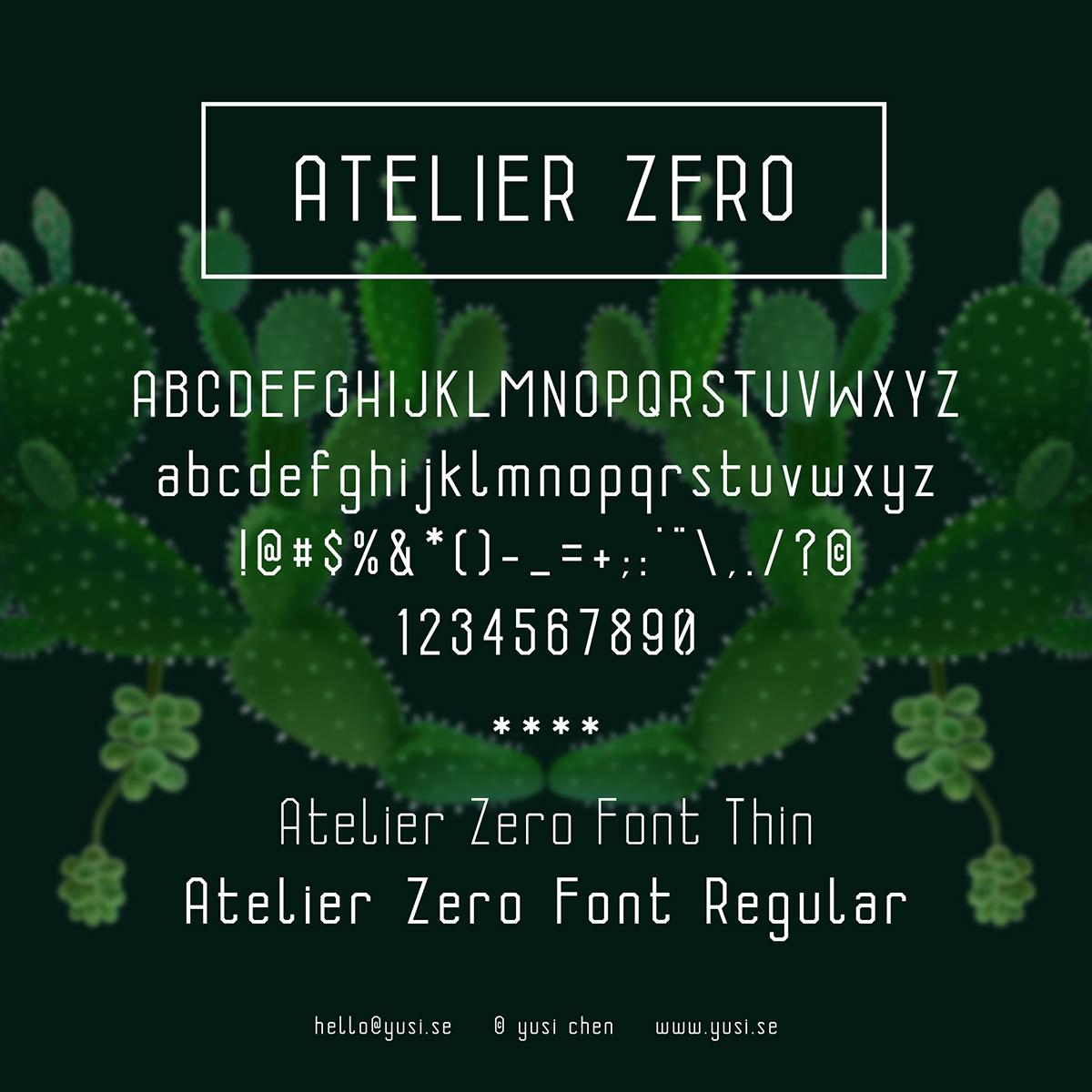 Atelier Zero Font